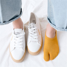 Couple Socks Silicone Anti-skid Low-end Shallow-mouth Invisible Two-toed Boat Unisex New Arrival