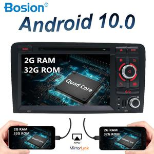 2 din android 10.0 car radio for audi a3 8p fit to 2003-2011 autoradio audio gps navigation amp steering wheel control camera