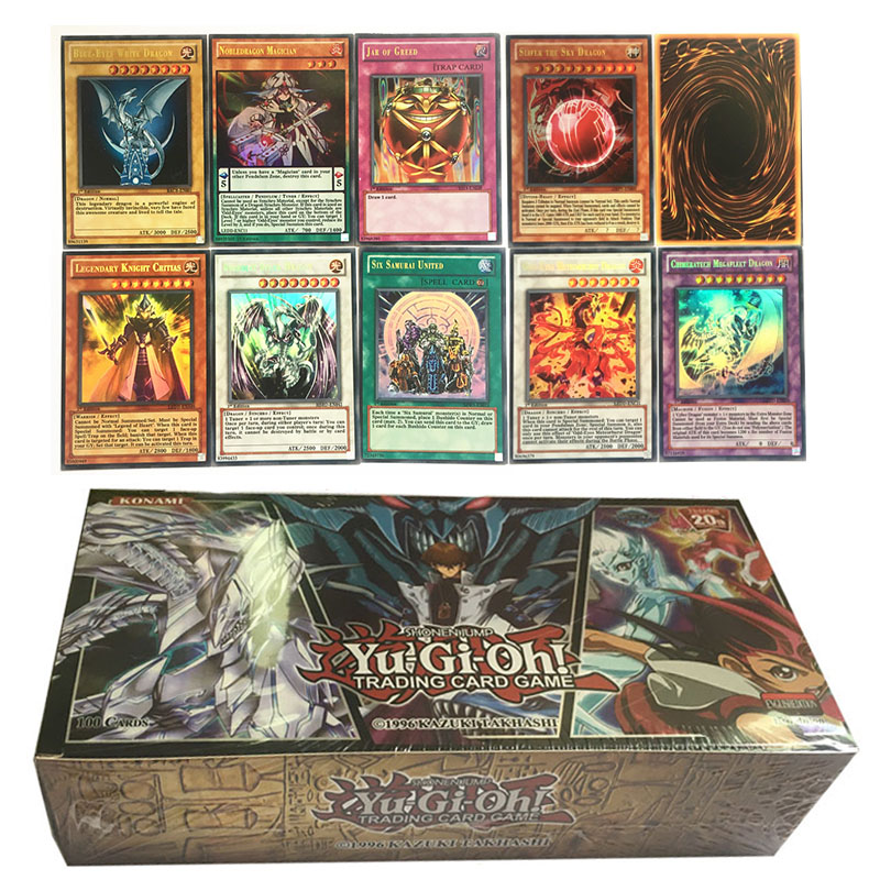 100Pcs/Box Yu Gi Oh Cards English Version Trading Flash Cards Anime Yugioh Game Card Collection Booster Christmas Gift Kids Toy