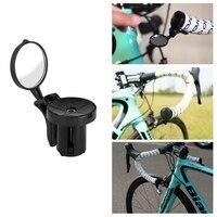 Espelho traseiro da bicicleta ciclismo guiador final espelho mtb guiador vista traseira lateral estrada ciclismo segurança flexível forbike|Espelhos de bicicleta| |  -