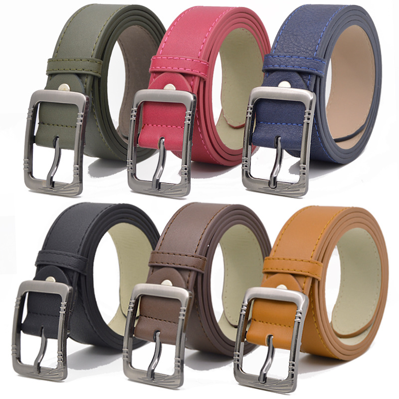 New Children Leather Belts 3.3cm Fashion Pu Leather Belts Boys Girls Kid Waist Strap Waistband For Jeans High-quality Goods Belt