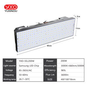 Meanwell Driver 200W Samsung Board LM301H LM301B Full Spectrum Indoor Dimmable LED Grow Lights/Lamps for Veg and Bloom