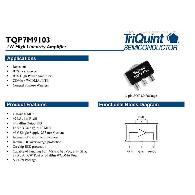 1PCS TQP7M9103 SOT-89