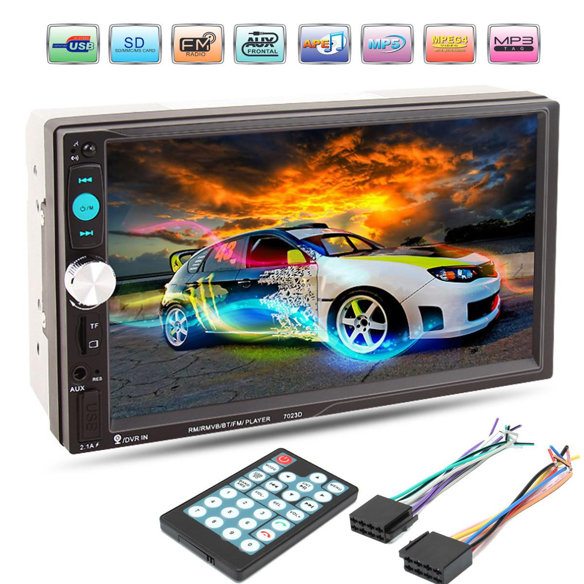 7 inch bluetooth HD Car MP5 Player Reader Radio <font><b>7023D</b></font> 2DIN Fast Charge with Camera Car Stereo Audio MP5 Player image