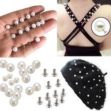 1 pz vendita calda pressa a mano fai da te rivetti di perle berretto artigianale perla maglieria cappello tomaie vestiti velo da sposa decorazione perline indumento