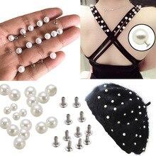Craft-Cap Garment-Beads Pearl Bridal-Veil-Decoration Hand-Press Hot 1pcs Rivets Knitting-Hat