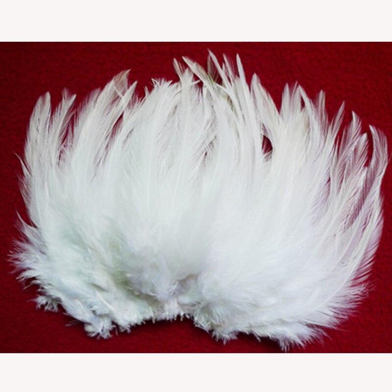 wholesale natural 50pcs/lot Beautiful white Pheasant Neck Feathers 10-15cm/4-6''