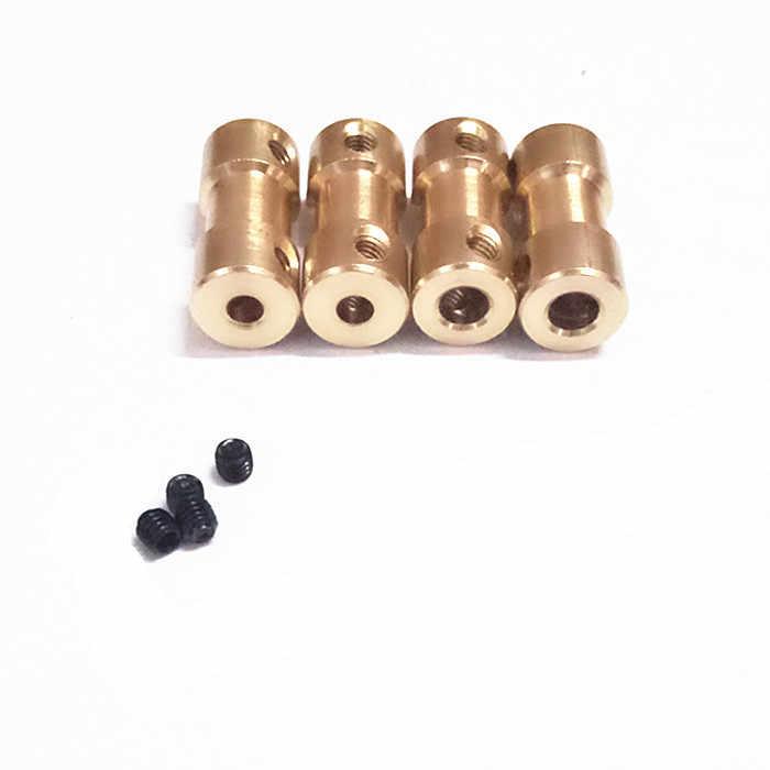 2 ミリメートル/2.3 ミリメートル/3 ミリメートル/3.17 ミリメートル/4 ミリメートル/5 ミリメートル/6 ミリメートル真鍮剛性モーターシャフトカップリングカプラーモータ伝送コネクタとネジ