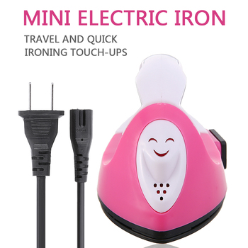 Mini żelazko elektryczne przenośne rzemiosło ubrania prasowanie materiały krawieckie profesjonalny ceramiczny materiał grzewczy do użytku domowego tanie i dobre opinie Other Mini Electric Iron
