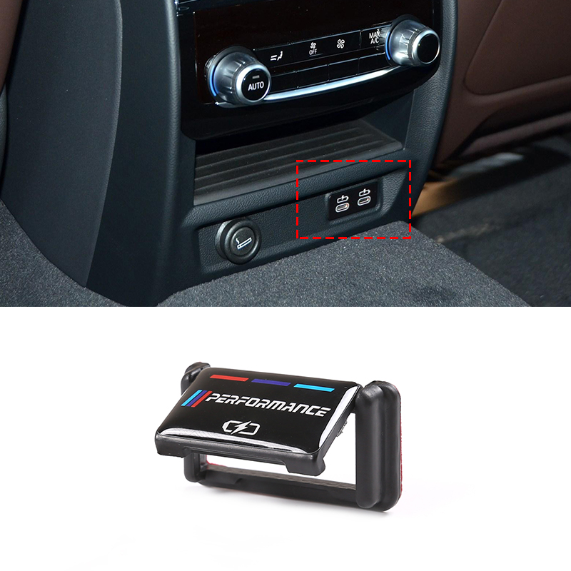 For BMW 5 Series G30 2020 Plastic Car Rear Charging Port USB Protection Cover Accessories