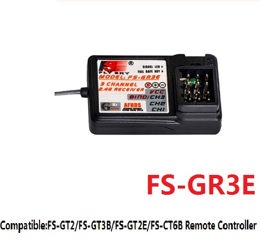 Flysky FS-GR3E AFHDS 2.4G 3CH Receiver RC Receiver For FS GT3B GT2 GT3C GT2E CT6B Transmitter RC Car Truck Boat Parts
