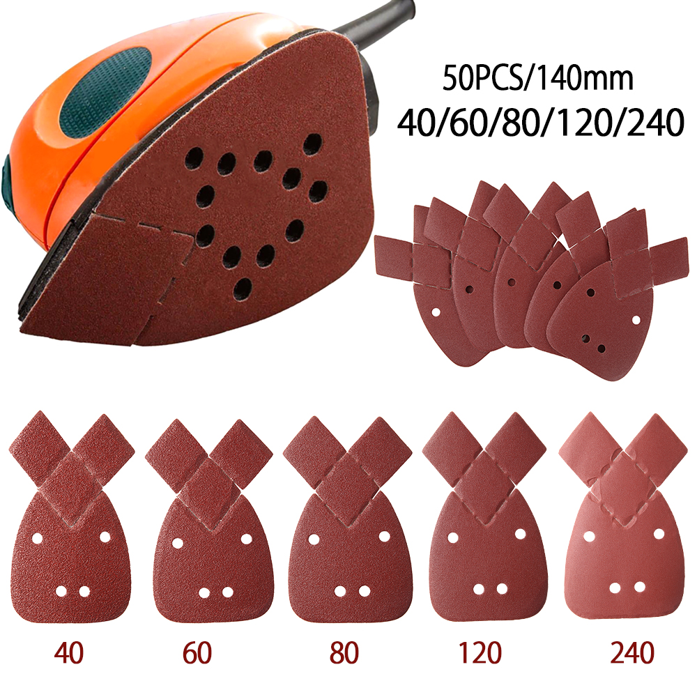 50pcs Grits Sanding Disc Set For Polishing Cleaning Tools Grit Mouse Sanding Sheets