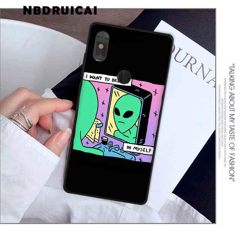 Nbdruicaiかわいい漫画エイリアン高品質電話ケースxiaomi 8 9 se 5X redmi 6pro 6A 4X 7 5プラス注5 7 6pro