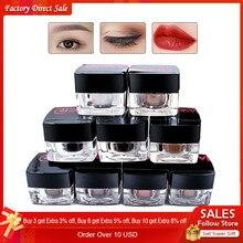 Encre de maquillage permanente pour les sourcils et les lèvres, accessoire de beauté, 9 pièces en matériau végétal, Pigment Microblading 3D, 100% nouveau