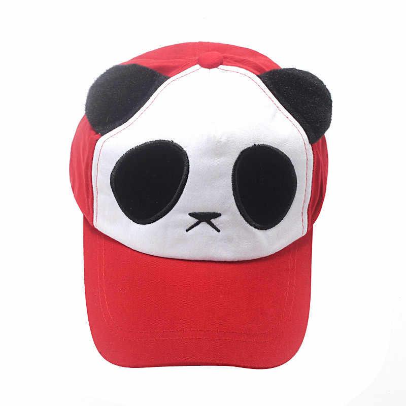 أسود البيسبول قبعات القطن لطيف الباندا Kawaii قبعة الرجال النساء Snapback Animales الأذن قبعة أنيقة على الموضة غورا هومبر الهيب هوب # D