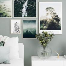 Скандинавский Пейзаж Плакат цветы Настенная живопись природа