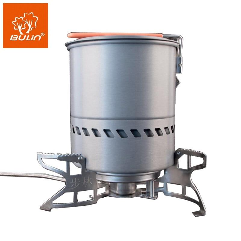 SET! BULIN BL100- B15+ S2400 Outdoor Camping Gas Stove Burner+ 1.5L Pot
