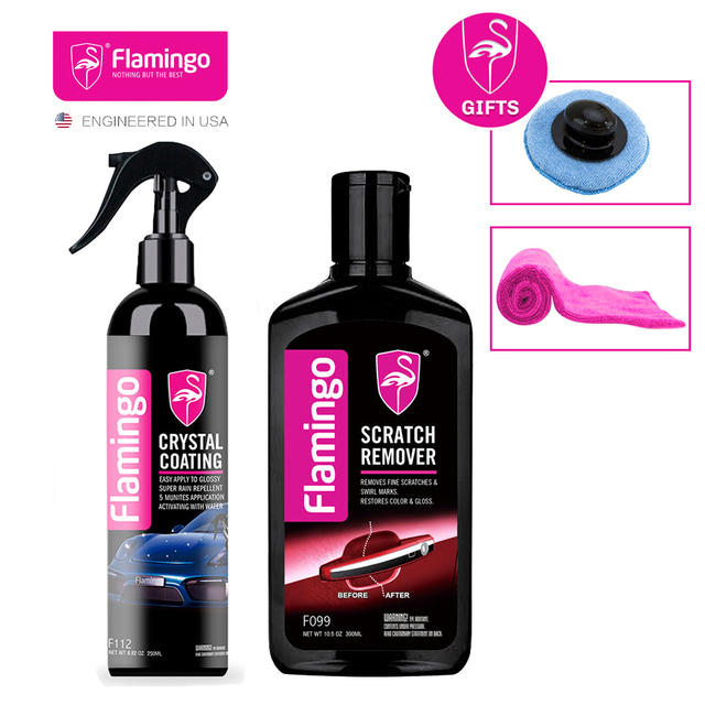 Crystal Ceramic Car Coating and Sractch Remover Kit Scratch Repair Paint Care Nano Coating Waterproof High Gloss Shine Wax