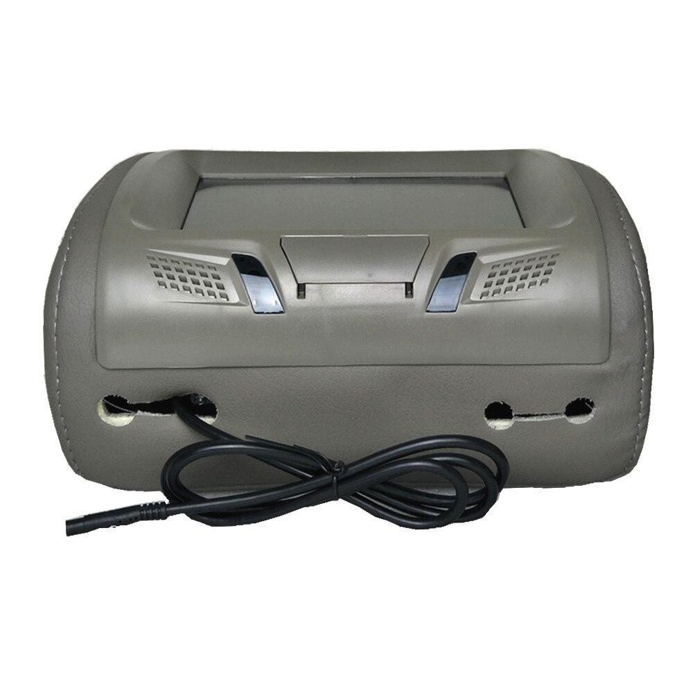 """Универсальный """" сенсорный экран автомобильный подголовник монитор MP5 плеер Подушка монитор Поддержка AV/USB/SD вход/FM/динамик/наушники/Bluetooth - Цвет: Grey without zipper"""