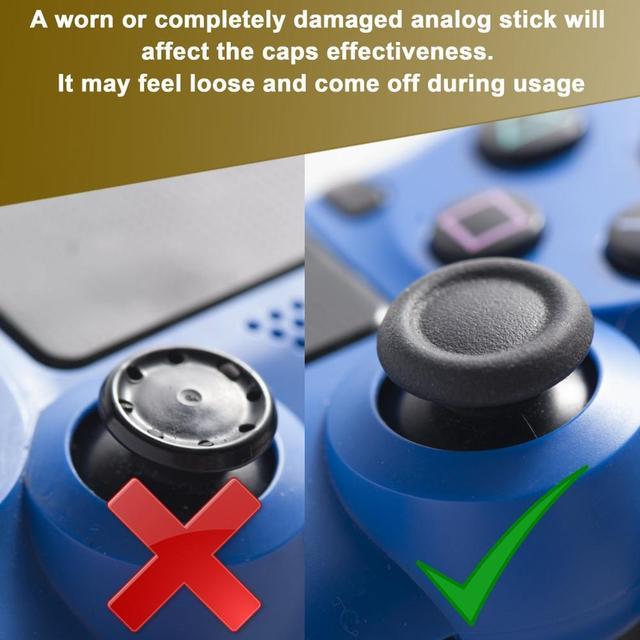 4 pcs Del Silicone Analogico Thumb Stick Grip Copertura per PlayStation 4 PS4 Pro Sottile per PS3 Controller Thumbstick Tappi per xbox 360 di Un 5