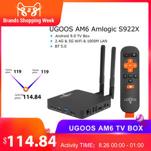 Media-Player Tv-Box Ugoos Am6 S922x2gb LPDDR4 Smart Android 1000M Amlogic Wifi 16GB HD