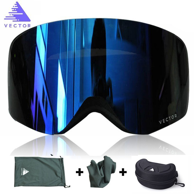 VECTOR Snowboard Goggles Skiing Eyewear Double-Lens UV400 Women Adult Anti-Fog Brand