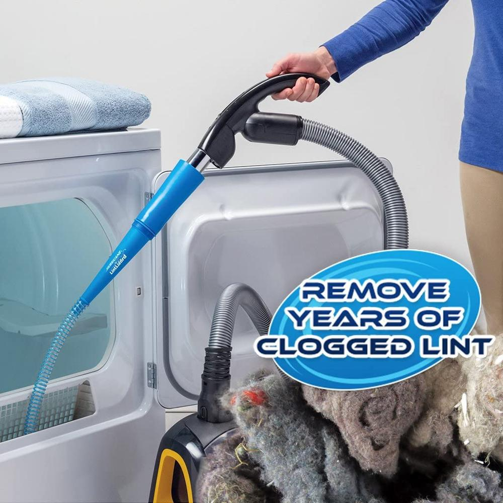 Vacuum Hose Attachment by BulbHead, Removes Lint from Your Dryer Vent, Power Clean Behind Appliance