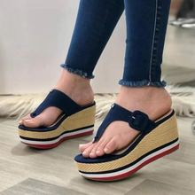 Yaz plaj sandaletleri 2021 kadın moda rahat Flip flop açık terlik platformları takozlar ayakkabı kadın terlik büyük boy 43