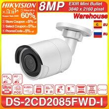 Hikvision الأصلي كاميرا IP 8MP DS 2CD2085FWD I رصاصة شبكة كاميرا تلفزيونات الدوائر المغلقة قابلة للتحديث WDR POE SD فتحة للبطاقات
