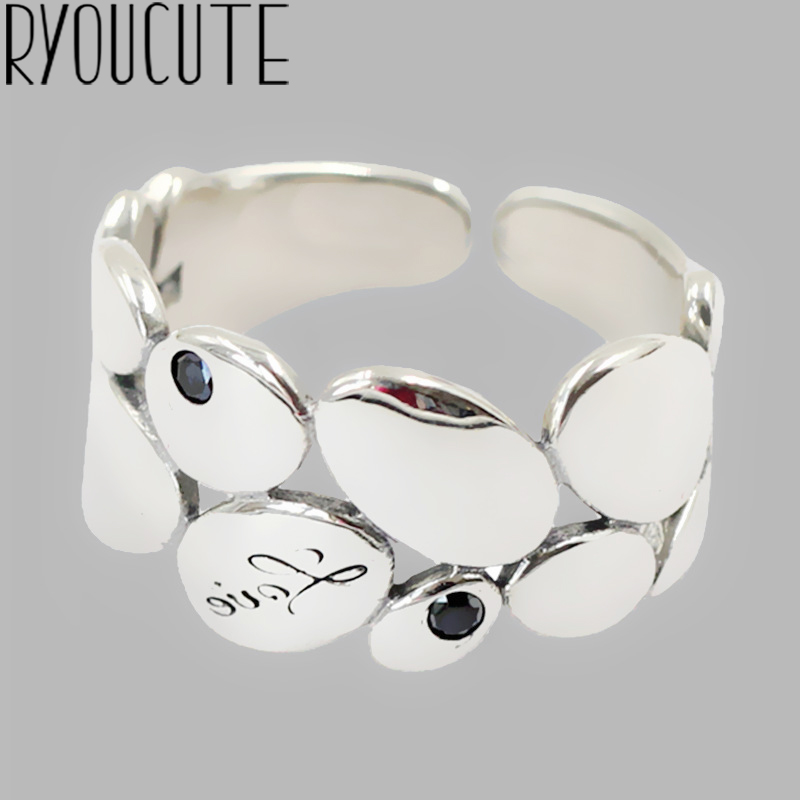 Luxury Brand Silver Color  Leaf Rings for Women Antique Rings Wedding Jewelry Valentines Gifts 1
