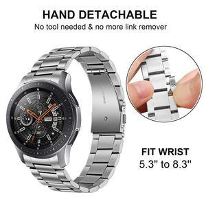 Image 3 - יד להסרה נירוסטה רצועת השעון + אין פער Soild קליפים עבור Samsung Galaxy שעון 46mm/ציוד S3 מהיר שחרור להקת רצועה
