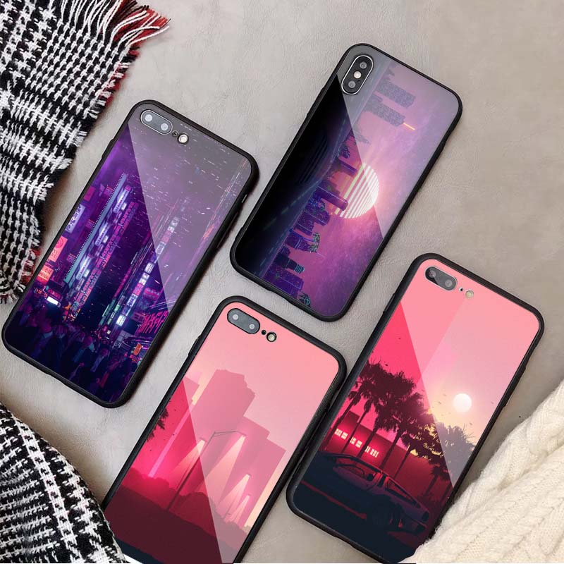 coque iphone 8 futuristic city