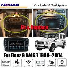 Android para mercedes benz g w463 1998 stereo 2004 estéreo carplay hd tela cd dvd mapa gps sistema de multimídia navegação