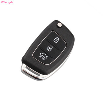 Wilongda   key case fob replacement 3 Buttons Remote key shell For HYUNDAI Mistra Santa Fe Sonata Tucson Accent I30 I40 I45