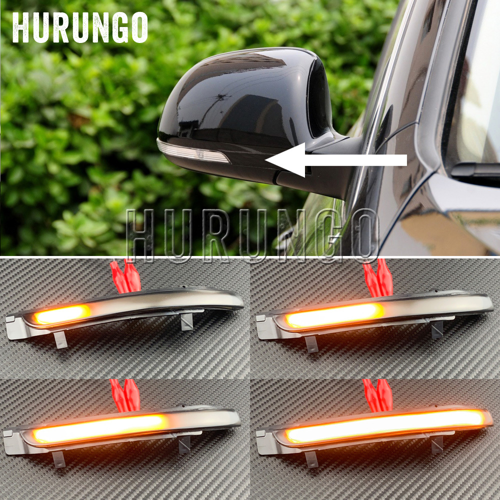 2 Pieces For Skoda Octavia 2009-2013 SUPERB 2008-2014 Dynamic LED Turn Signal Blinker Mirror Flasher Light