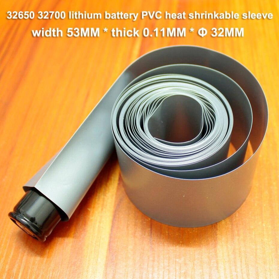 10m/lot 32650 Lithium Battery Heat Shrinkable Sleeve Shrink Film Wattmar 32700 Battery Sheath Insulation Sleeve