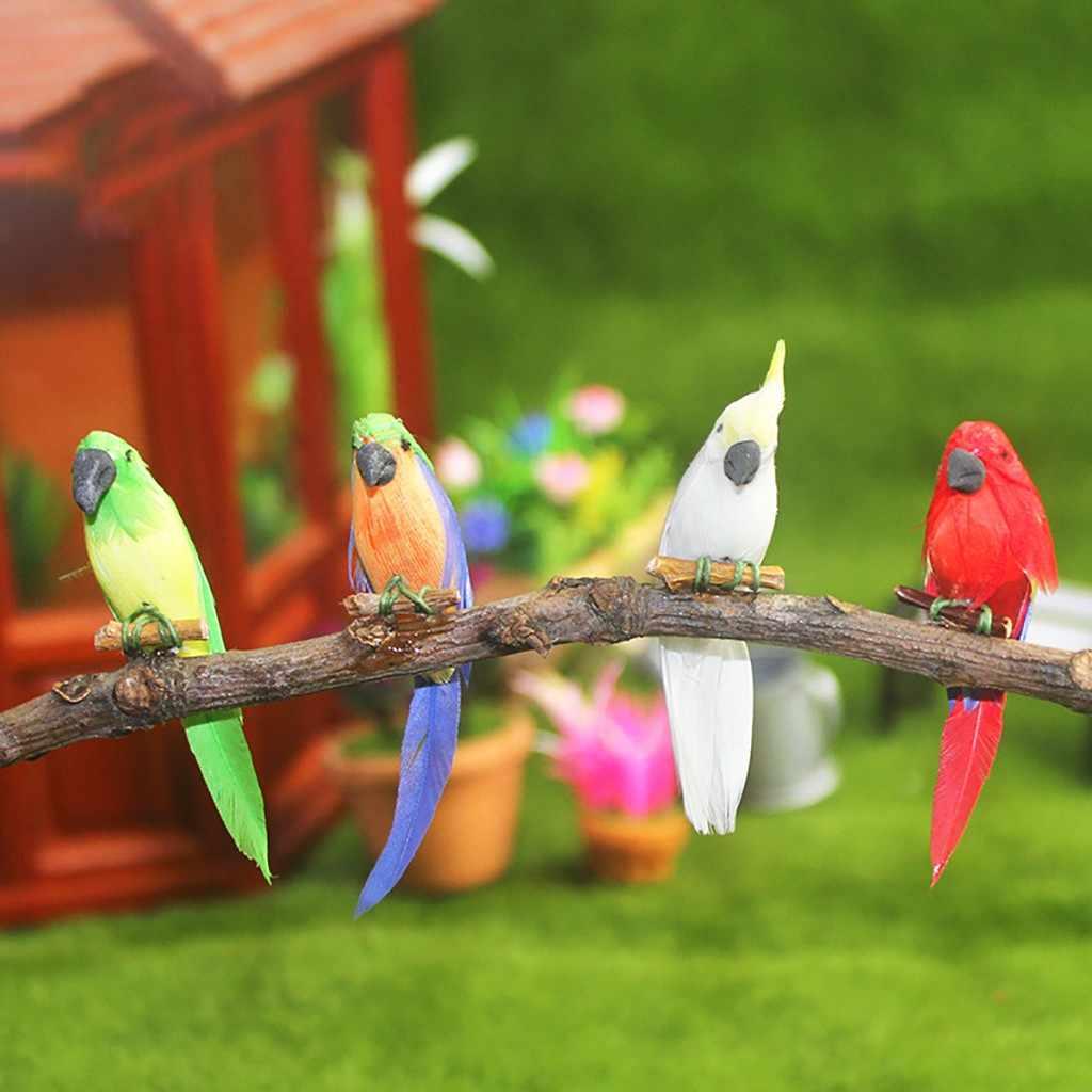 1:12 دمية مصغرة المشهد Kawaii الحيوان الببغاء نموذج للأطفال فتاة هدية بيوت الدمية الطيور الصغيرة الببغاوات التظاهر اللعب جديد