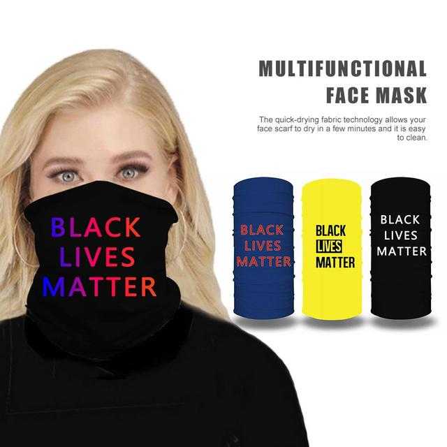 Black Lives Matter Mask Quick-drying Breathable Sport Cycling Skiing Hiking Bandana Scarf Men Women Neck Gaiter Cover Face Scarf