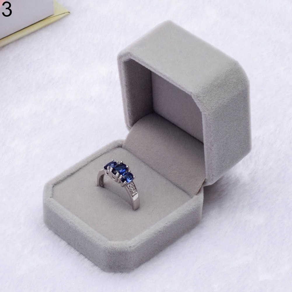 Бархатные обручальные свадебные серьги кольцо подвеска Ювелирная Витрина Подарочная коробка новый ювелирный ящик/joyeros organizador de joyas/кольцо b