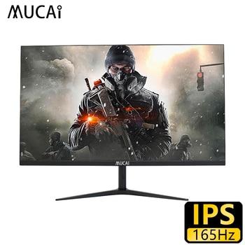 MUCAI-monitor para ordenador de escritorio, pantalla lcd ips de 144Hz, 165Hz, HD, HDMI/DP, 24 pulgadas