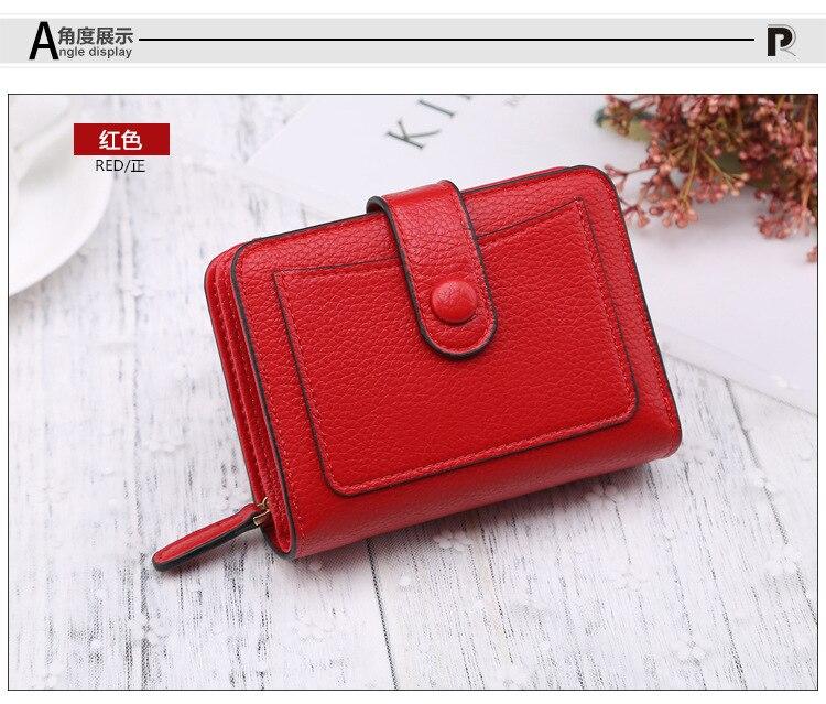 Women Lady Clutch Leather Wallet Long Card Holder Phone Bag Case Purse Handbag Bifold Wallet Zipper Clutch Card Holder Purse