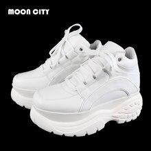 Женские кроссовки; коллекция года; модные белые кроссовки на платформе; женская брендовая повседневная обувь на массивном каблуке; женская кожаная спортивная обувь; Chaussure Femme