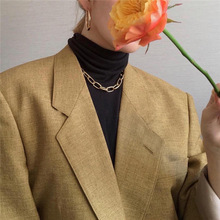 Punk Gold Choker Necklace Women Hip Hop Chain Statement Necklaces Big Chunky Thick Chain Cuban Necklace Fashion Party Jewelry meild big crystal clear pendants necklace women fashion punk statement collar choker necklaces jewelry party gifts