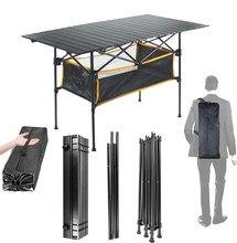 Table pliante d'extérieur en alliage d'aluminium, pour Camping voyage randonnée barbecue pique-nique fête bureau de jardin