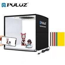 Puluz 25cm lightbox dobrável mini photo studio caixa de luz fotografia iluminação tiro tenda caixa kits & 6 papéis de fundo/12 cores