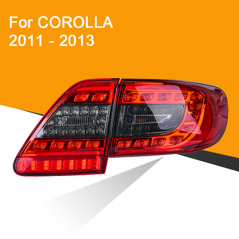 LED Tail Lamp For Toyota Corolla 2011 2012 2013 Left And Right Side LED Tail Light Running Light Reverse Lamp