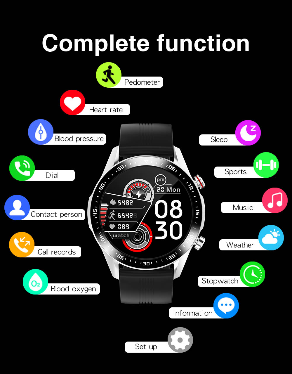 H5c0d83c084344c4faa2518cbd757abb1W E1-2 Smart Watch Men Bluetooth Call Custom Dial Full Touch Screen Waterproof Smartwatch For Android IOS Sports Fitness Tracker
