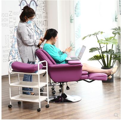 Beauty Chair, Loungeable Chair, Embroidered Make-up, Beautiful Eyelashes, Manicure, Sofa Chair, Multi-functional Lift, Noon Rest
