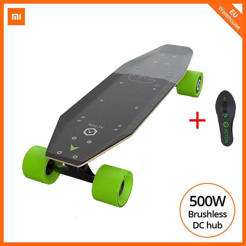 Spor ve Eğlence'ten Elektrikli Scooterlar'de [Ab stok] Xiaomi ACTON elektrik kaykay akıllı kablosuz uzaktan kumanda 36V 500W E scooter çok yönlü led ışık grubu title=