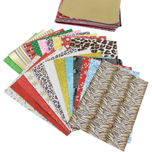 Faux-Leather Fabric-Sheets for Diy-Decoration Leathercrafts/1yc12285 Size-Random-Designs